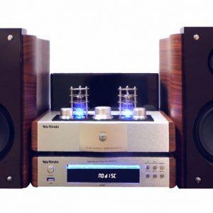 Conjunto estéreo de Cine en Casa con amplificador a válvulas