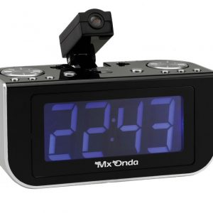 Radio reloj digital con proyector horario