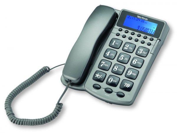 TELÉFONO DE SOBREMESA CONIDENTIFICADOR DE LLAMADAS POR VOZ