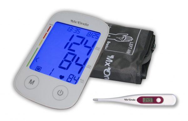 Tensiómetro digital de brazo con locución + termómetro digital